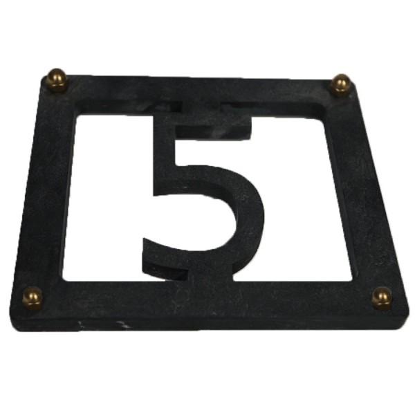 Hausnummer aus Schiefer Stelvio