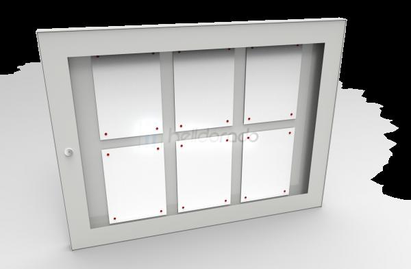 Mitteilungskasten ZWICK für 6 DIN A4 Helldorado grau