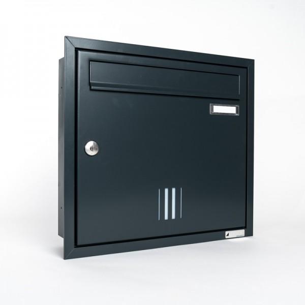 Briefkasten ZWICK Helldorado mit Sichtschlitze unterputz