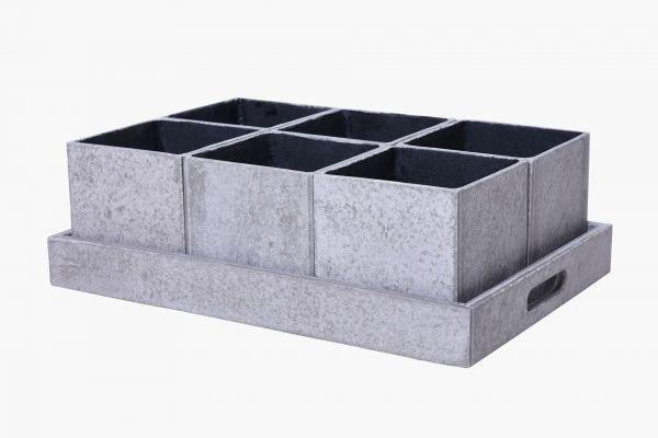tablett-Kräutertöpfe-grau-fiberzement-cubes