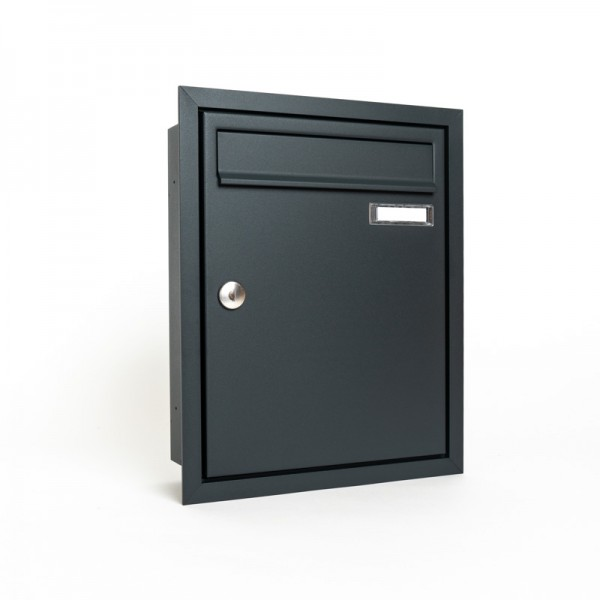 Briefkasten Unterputz 260x330x100 RAL 7016 feinstruktur
