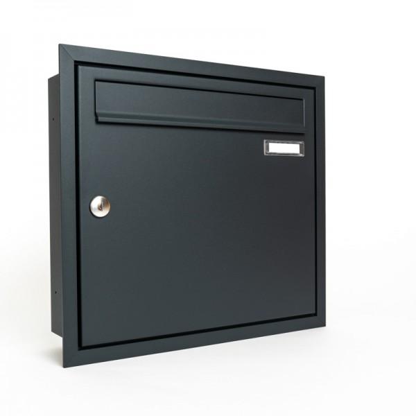 Briefkasten Unterputz 370x330x100 RAL 7016