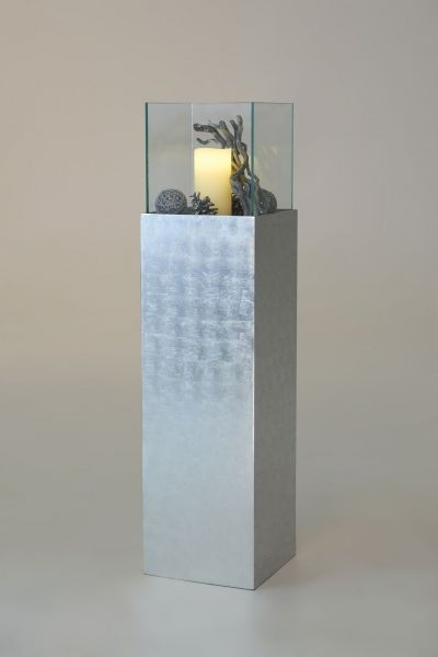 windlichtsaeule-windlicht-kerzenhalter-fiberglas-silber-hochglanz-lampo