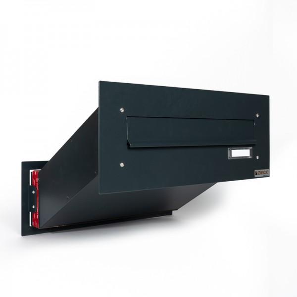 Briefkasten ausziehbar ZWICK für Mauerdurchwurf Montage Helldorado