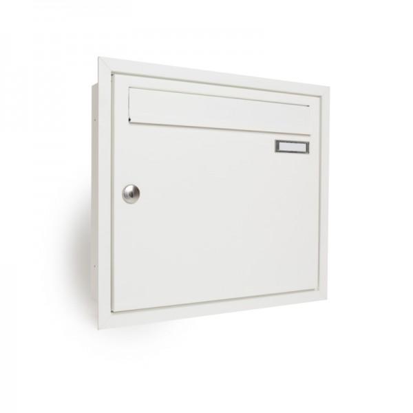 Briefkasten ZWICK unterputz mit Rahmen TE110 RAL 9016 weiß