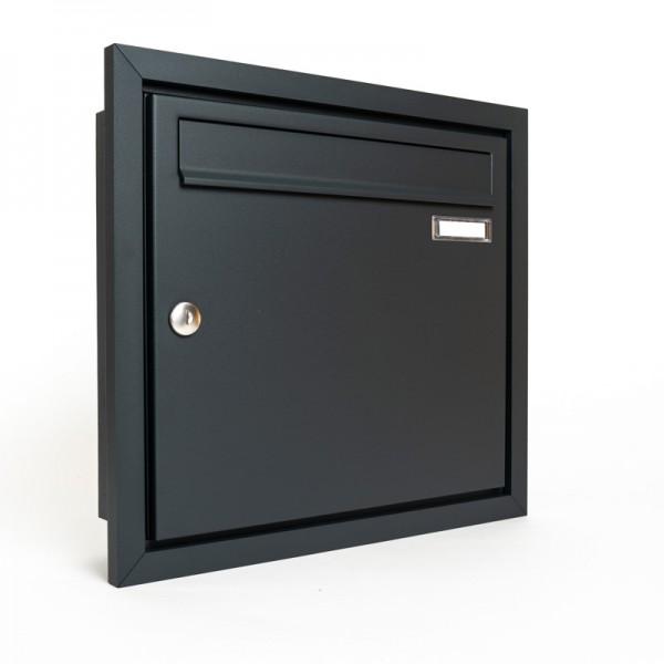 Briefkasten ZWICK unterputz Design Rahmen RAL 7016 feinstruktur